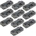 Replacement for HP CF280A (80A) Black Laser Toner Cartridge for Hewlett Packard Printers (Set of 10-Pack)