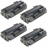 Replacement for HP CF280A (80A) Black Laser Toner Cartridge for Hewlett Packard Printers (Set of 4-Pack)