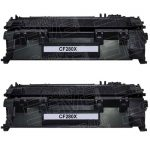Replacement Bulk Set of 2-Pack CF280X (HP 80X) Black High Yield Laser Toner Cartridge for Hewlett Packard Printers
