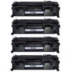 Replacement Bulk Set of 4-Pack CF280X (HP 80X) Black High Yield Laser Toner Cartridge for Hewlett Packard Printers