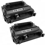 Replacement Black CF281A (HP 81A) Laser Toner Cartridge for Hewlett Packard Printers (Set of 2-Pack)