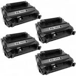 Replacement Black CF281A (HP 81A) Laser Toner Cartridge for Hewlett Packard Printers (Set of 4-Pack)