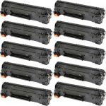 Replacement Black CF283A (HP 83A) Laser Toner Cartridge for Hewlett Packard Printers (Bulk Set of 10-Pack)