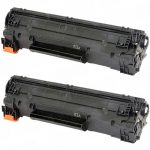 Replacement Black CF283A (HP 83A) Laser Toner Cartridge for Hewlett Packard Printers (Bulk Set of 2-Pack)