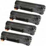 Replacement Black CF283A (HP 83A) Laser Toner Cartridge for Hewlett Packard Printers (Bulk Set of 4-Pack)