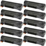 Replacement Black CF283X (HP 83X) High Yield Laser Toner Cartridge for Hewlett Packard Printers (Bulk Set of 10-Pack)