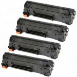 Replacement Black CF283X (HP 83X) High Yield Laser Toner Cartridge for Hewlett Packard Printers (Bulk Set of 4-Pack)