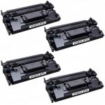 Replacement for HP CF287A (HP 87A) – (Combo Pack of 4) Black Laser Toner Cartridge