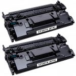 Replacement Black CF287X (HP 87X) – (Combo Pack of 2) High Yield Laser Toner Cartridge for Hewlett Packard Printers