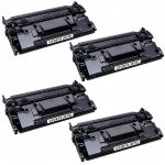 Replacement Black CF287X (HP 87X) – (Combo Pack of 4) High Yield Laser Toner Cartridge for Hewlett Packard Printers