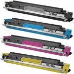 Replacement for (HP 130A) Color Set of 4 Toner Cartridges – Black CF350A, Cyan CF351A, Magenta CF353A & Yellow CF352A