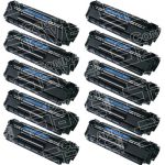 Replacement for HP Q2612A (12A) Combo-Pack of 10 High Capacity Black Laser Toner Cartridge