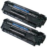 Replacement for HP Q2612A (12A) Combo-Pack of 2 High Capacity Black Laser Toner Cartridge