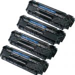 Replacement for HP Q2612A (12A) Combo-Pack of 4 High Capacity Black Laser Toner Cartridge