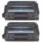 Replacement Black Laser Toner Cartridge for Hewlett Packard (HP) Q5942A (42A)- 2 Pack