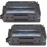 Replacement Black Laser Toner Cartridge for Hewlett Packard (HP) Q5942X (42X) – 2-Pack