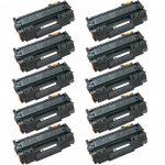 Replacement (Combo Pack of 10) Black Laser Toner Cartridge for Hewlett Packard (HP) Q5949A (49A)