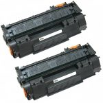 Replacement (Combo Pack of 2) Black Laser Toner Cartridge for Hewlett Packard (HP) Q5949A (49A)