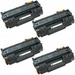 Replacement (Combo Pack of 4) Black Laser Toner Cartridge for Hewlett Packard (HP) Q5949A (49A)