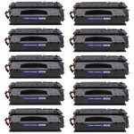Replacement High Yield Black Laser Toner Cartridge for Hewlett Packard (HP) Q5949X (49X) – (Bulk Set of 10)