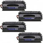 Replacement High Yield Black Laser Toner Cartridge for Hewlett Packard (HP) Q5949X (49X) – (Bulk Set of 4)