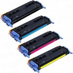 Combo Pack of 4 (1 Set) HP Q6000 (HP 124) Replacement High Yield Black, Cyan, Magenta & Yellow Laser Toner Cartridge for Hewlett Packard (HP) Q6000A Q6001A Q6002A Q6003A
