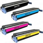 Replacement Color Laser Toner Cartridge for HP 3600 Series Printer (Set of 4): 1 each of Q6470A Black, Q6471A Cyan, Q6473A Magenta & Q6472A Yellow