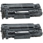 Replacement Standard Capacity Black Laser Toner Cartridge for Hewlett Packard (HP) Q7551A – (51A) (Combo Pack of 2)