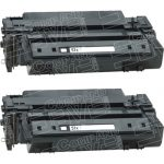 Replacement High Yield Black Laser Toner Cartridge for Hewlett Packard (HP) Q7551X – (51X) (Combo Pack of 2)