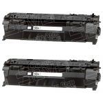 Replacement Black Laser Toner Cartridge for Hewlett Packard (HP) Q7553A – (53A) (Combo Pack of 2)