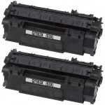 Replacement High Yield Black Laser Toner Cartridge for Hewlett Packard (HP) Q7553X – (53X) (Combo Pack of 2)