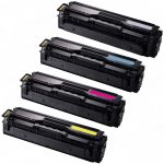 Replacement CLT-504S (504S) Laser Toner Cartridge for use in Samsung CLP-415 & CLX-4195 Printers (Color Set of 4): 1 Black, 1 Cyan, 1 Magneta, 1 Yellow