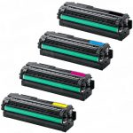 Replacement CLT-505L 505 (Color Set of 4) High Yield Laser Toner Cartridge for use in Samsung Printers