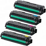 Replacement High Yield Laser Toner Cartridge for use in Samsung CLP-680 Printer (Set of 4): Black CLT-K506L, Cyan CLT-C506L, Magenta CLT-M506L & Yellow CLT-Y506L