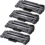 New Compatible MLT-D105L 105 High Yield Black Laser Toner Cartridge for Samsung Printer (Bulk Set of 4-Pack)