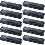 New Compatible MLT-D111S 111 Black Laser Toner Cartridge for Samsung Printers (Bulk Set of 10-Pack)