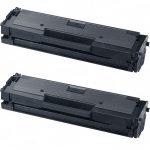 New Compatible MLT-D111S 111 Black Laser Toner Cartridge for Samsung Printers (Bulk Set of 2-Pack)