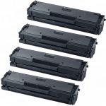 New Compatible MLT-D111S 111 Black Laser Toner Cartridge for Samsung Printers (Bulk Set of 4-Pack)