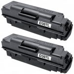 New Compatible MLT-D307L 307 High Yield Black Laser Toner Cartridge for Samsung Printers (Bulk Set of 2-Pack)