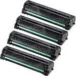 New Compatible MLT-D104S 104 (Bulk Set of 4-Pack) Black Laser Toner Cartridge for Samsung ML-1665 Printer